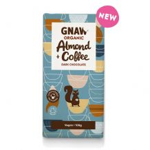 Gnaw Organic Almond Coffee Dark Chocolate Bar